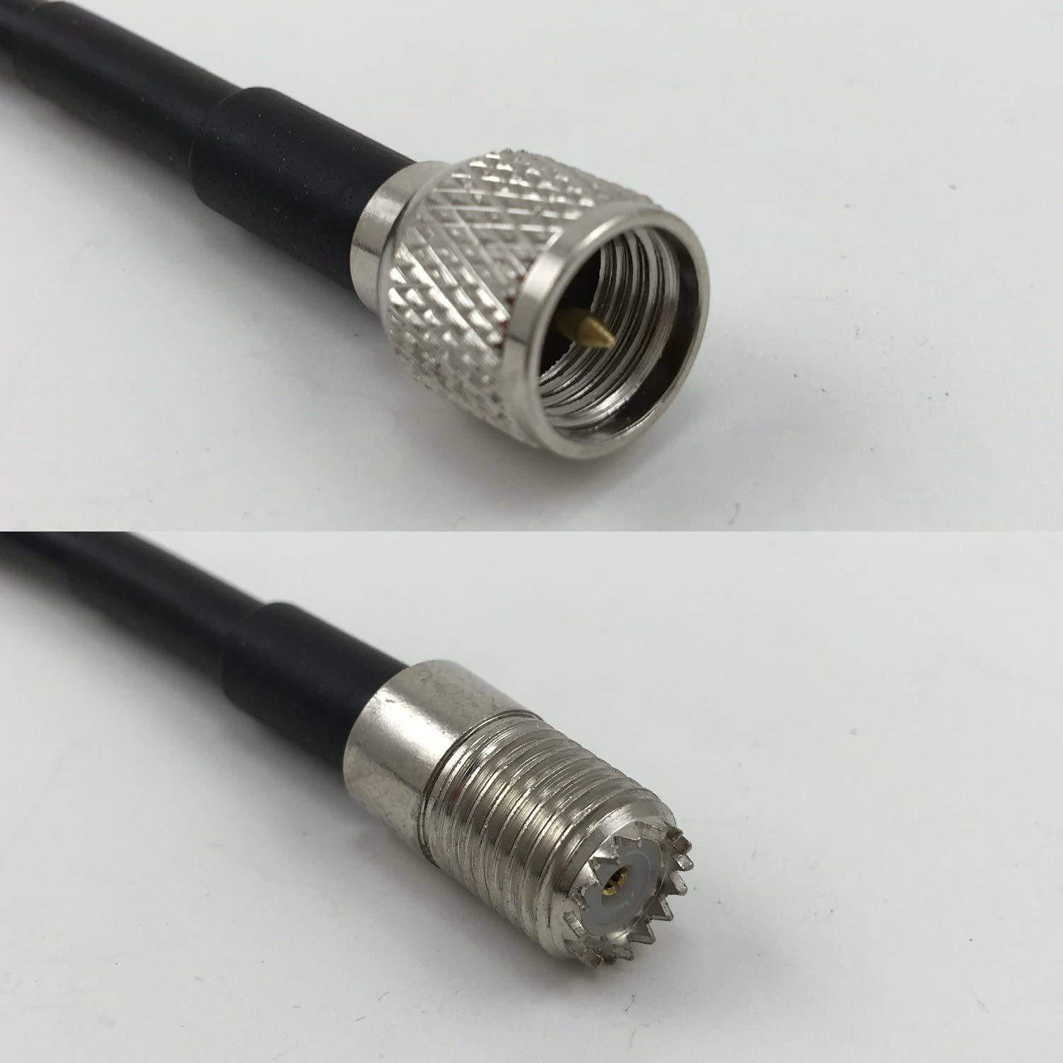 15 feet RFC195 KSR195 PL259 UHF Male to MINI UHF FEMALE Pigtail Jumper RF coaxial cable 50ohm Quick USA Shipping