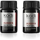Professional Rubber Top & Base Gel Set By Kodi | 14ml 0.49 oz | Soak Off, Polish Fingernails Coat Kit | For Long Lasting…