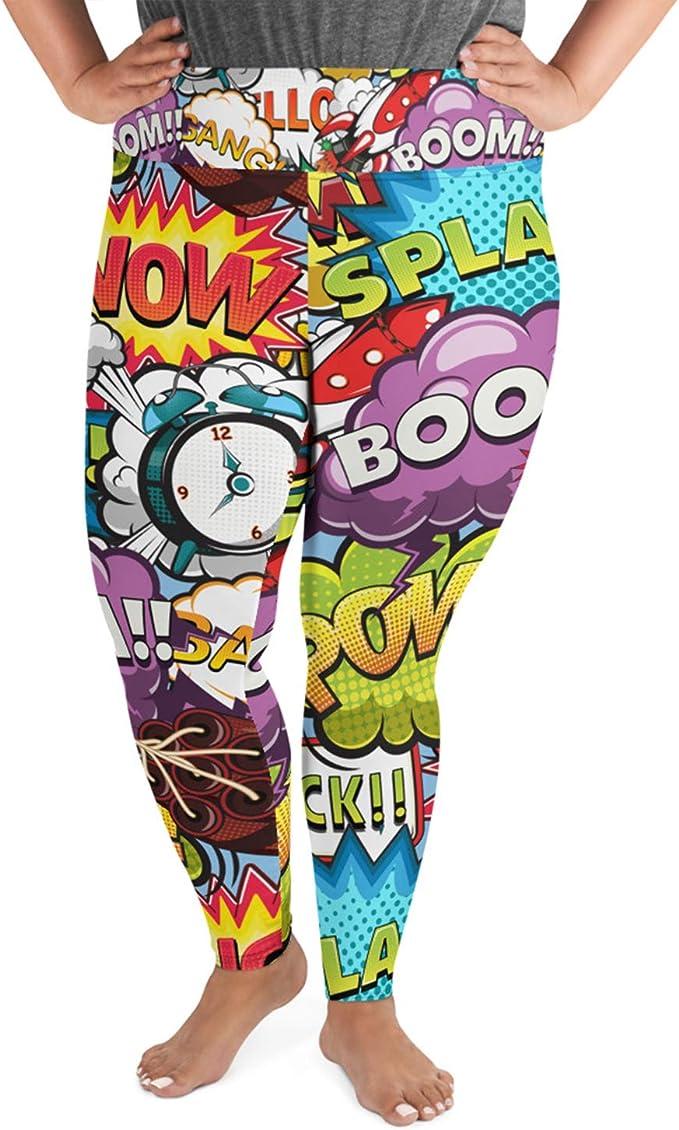 Pop Art Plus Size Leggings for Women High Waisted Yoga Pants ...