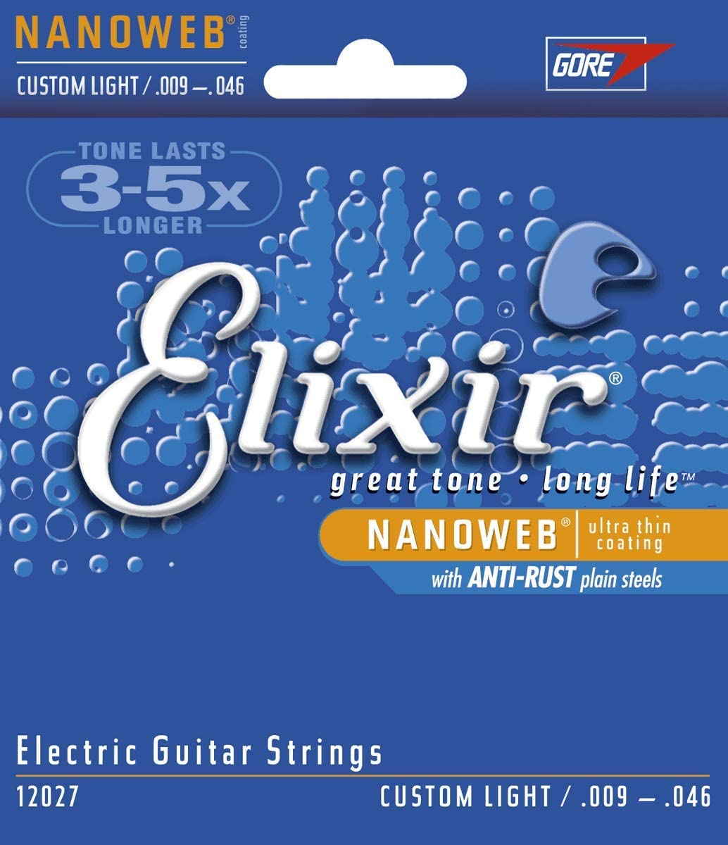 Elixir 12027 - Juego de cuerdas para guitarra eléctrica, .009 - 0.046