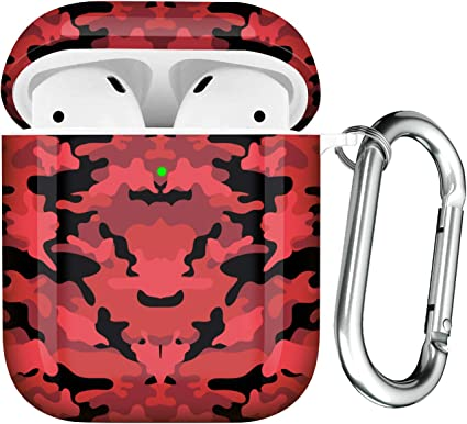 Hard PC Skin Kit for Girls Men Women Compatible with Airpods 2 /& 1 Charging Case with Carabiner Airpods Protective Cover Maxjoy Case for Airpods Front LED Visible
