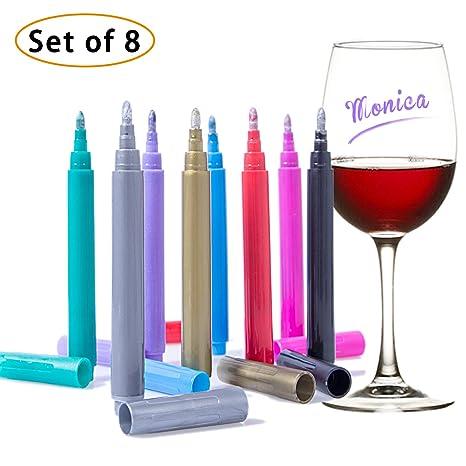 Pens Set of 8 Arteza Wine Glass Metallic Markers
