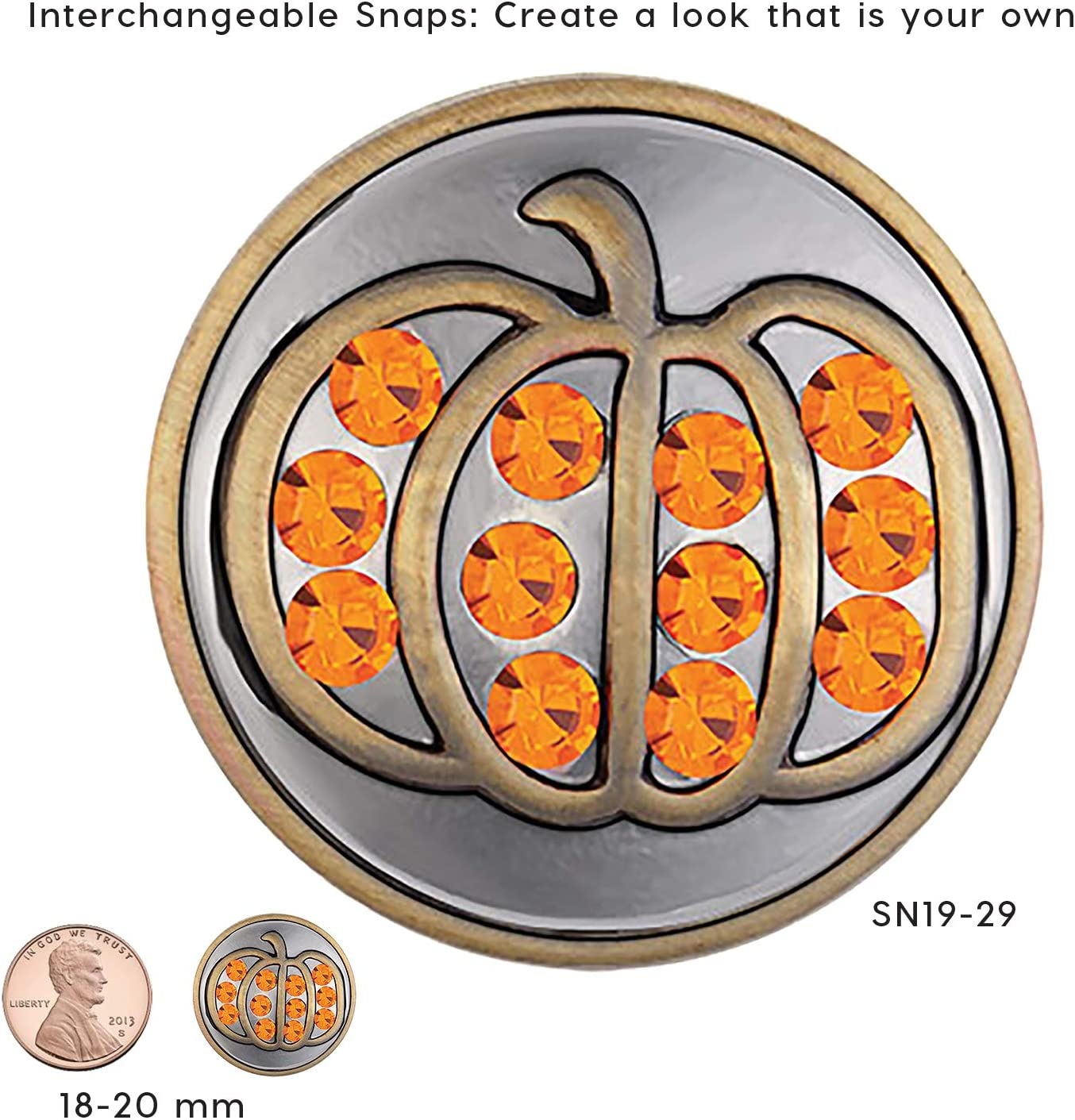 Snap It Button Charm Fits Ginger Snaps Style Jewelry *FREE SHIPPING OVER $25*
