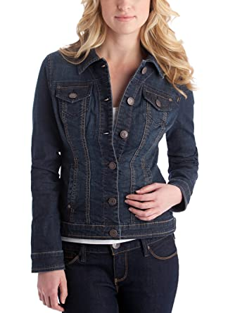 Guess Factory Women's Alisana Denim Jacket In Dark Wash at Amazon ...