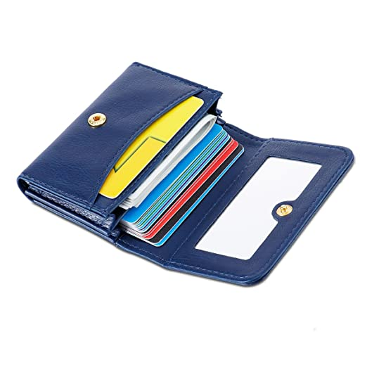 ea28e83380b7 Women Mini Leather Credit Card Case Wallet with Inner Mirror and ...