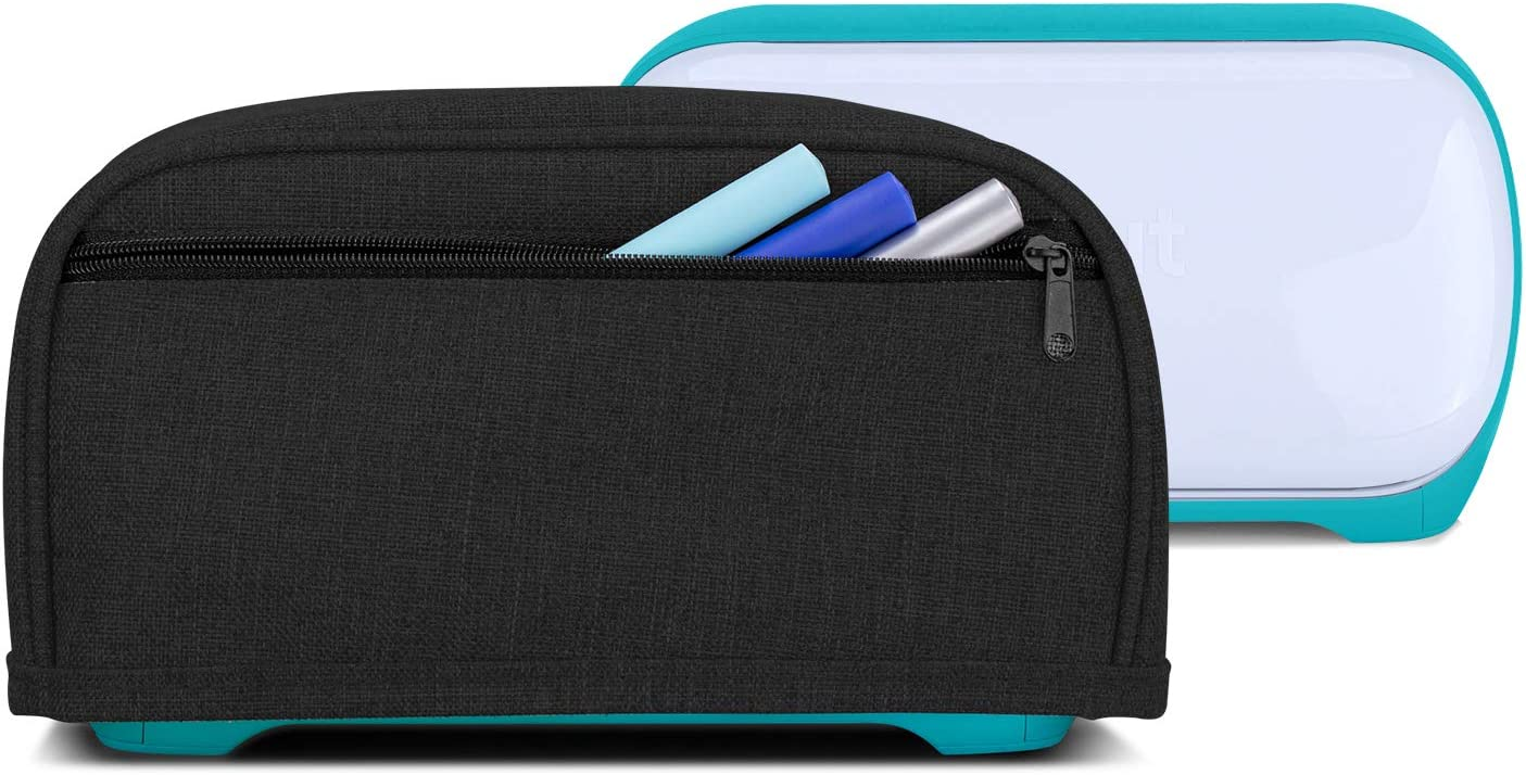 Yarwo Dust Cover for Cricut Joy Heavy Duty Nylon Cover with Zipper Pocket and Wipe Clean Liner Purple
