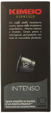 Kimbo Coffe Intenso Cápsulas Compatible Nespresso: Amazon.es ...