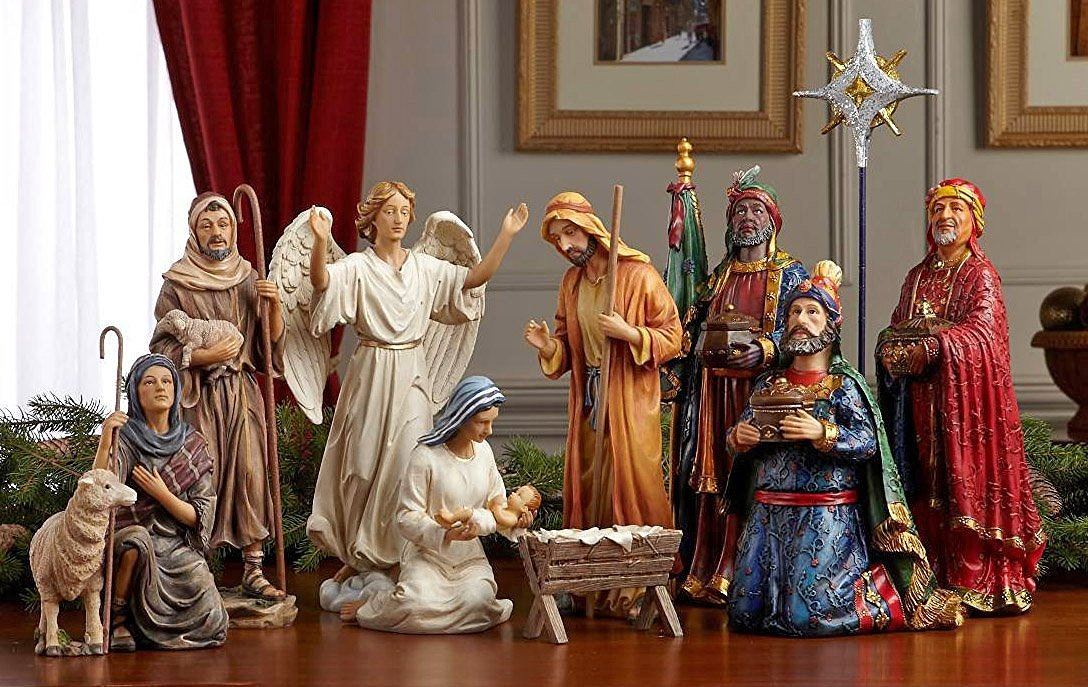 Three Kings Gifts Real Life Nativity Set 14 Inch