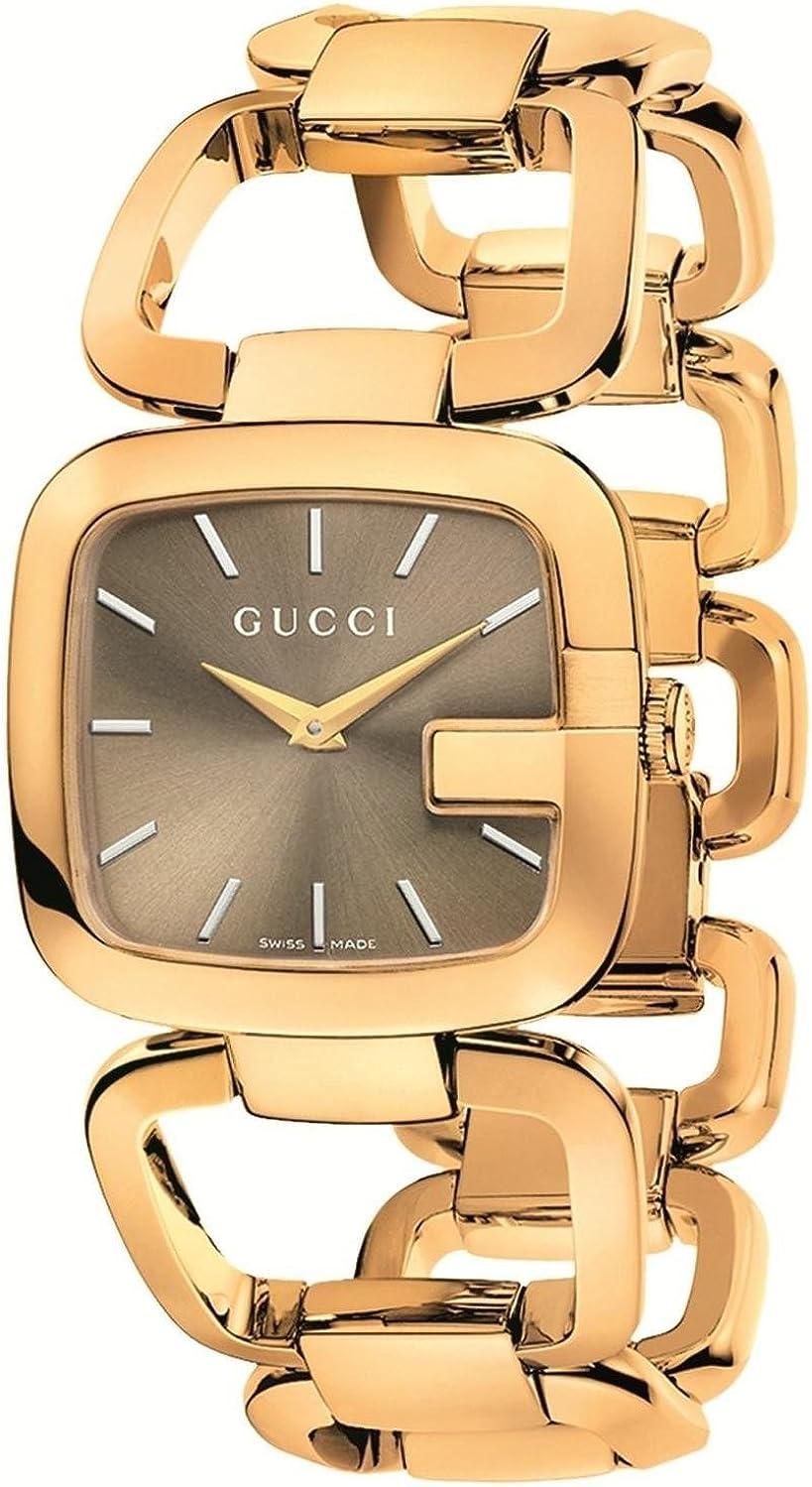 Gucci YA125408 Gucci - Reloj de pulsera para mujer, acero inoxidable, color dorado