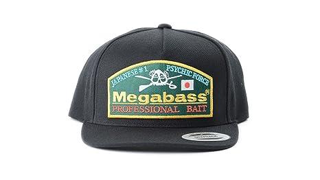d1e396ee16a Amazon.com   Megabass Throwback Snapback Fishing Hat Cap (Black ...