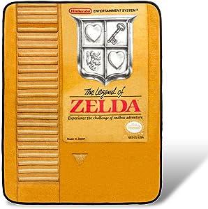 Nintendo The Legend of Zelda Gold Cartridge Fleece Throw Blanket | 45 x 60 Inches
