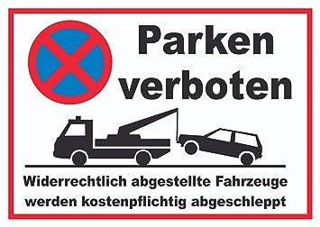 Prohibido aparcar widerr echtlich abgestellte Vehículos se ...