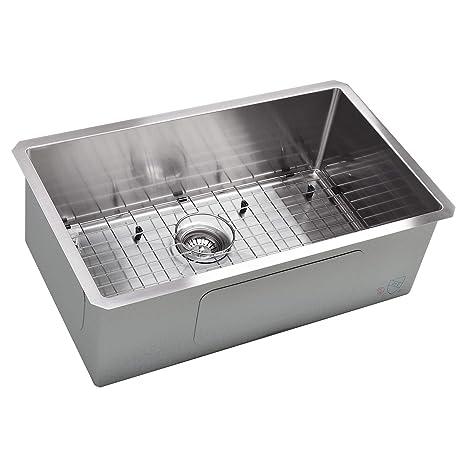 Koozzo Undermount Kitchen Sink 30 Rectangular Single Bowl Stainless Steel 16 Gauge