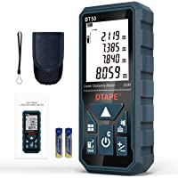 Medidor Láser, DTAPE DT50 Medidor de Distancia Láser 50M / 165 pies, Medidor de Presión Portátil Herramienta de Medición…