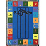"""Joy Carpets Kid Essentials Music & Special Needs Elementary Note Worthy Rug, Multicolored, 7'8"""" x 10'9"""""""