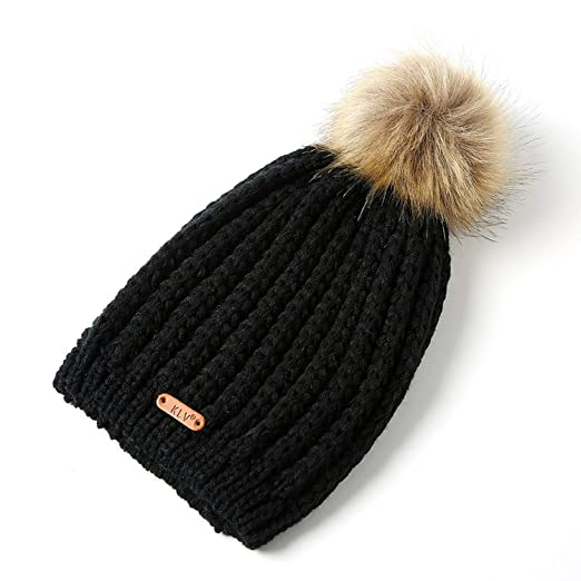 e68f1e56f Eric Carl 2019 Winter Beanies New Women Winter Hat Pompoms Hats ...