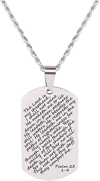 Pink Box 8MM Solid Stainless Steel Scripture Cuffs Isaiah 40:31 Silver