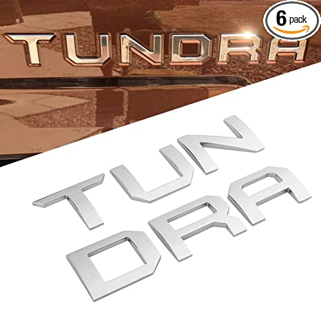 Amazon.com: Seven Sparta 3D Raised Tailgate Letters for Toyota Tundra 2014-2019 Zinc Alloy Emblem Inserts (Chrome): Automotive