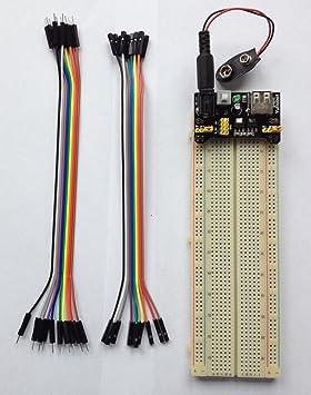 Placa de pruebas Kit de pan + fuente de alimentación módulo con 830 Point sin soldadura