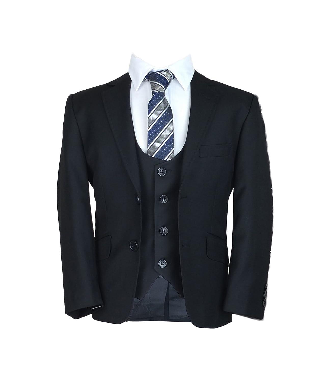 Designer Jungen förmlichen Schwarzer Anzug Slim Fit, 3 Page Boy ...
