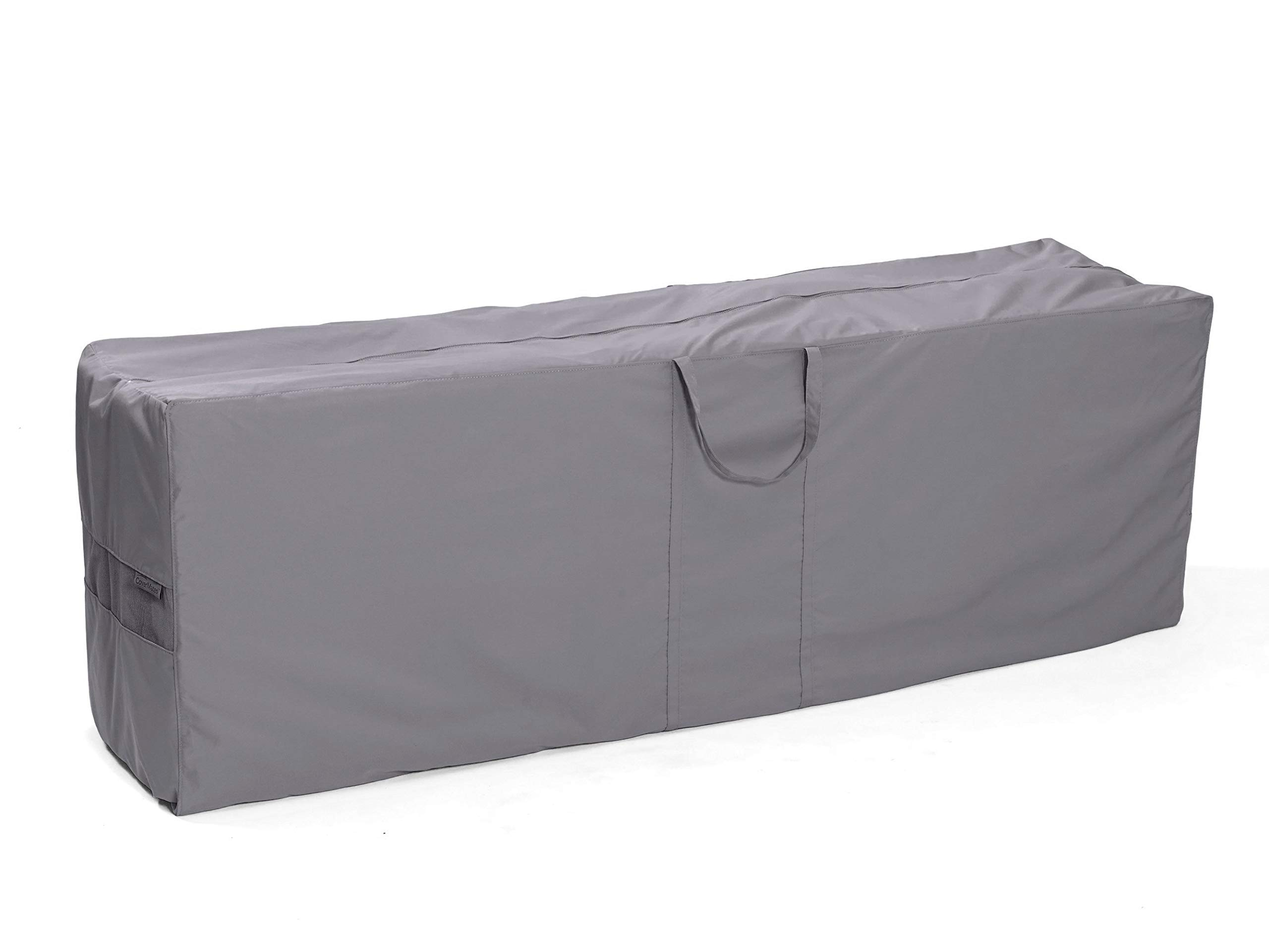 CoverMates – Cushion Storage Bag – 75W x 18D x 26H – Elite Collection – 3 YR Warranty – Year Around Protection - Charcoal by CoverMates (Image #1)