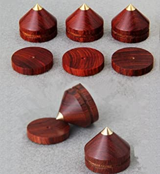 0,9 en × 0,8 en 4 paquetes de madera con base de cobre puro ...