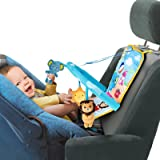 Itomoro Car Seat Toys for Infant, Baby Car Toys Rear Facing, Three Kickable and Playable Cute Dolls with Sounds, Baby Car Acc