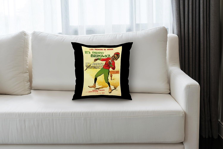 Les Billards Brunswick Vintage Poster (artist: H. Gray Henri ...
