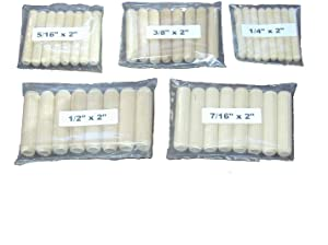 Wood Dowel Pin Assortment-50 Per Package-10 Each of 5 Different Sizes