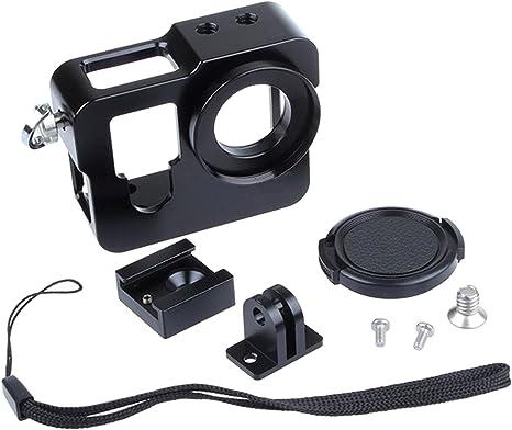 SHOOT Protección Multifuncional de Metal Aleación Aluminio Cámara la Caja para GoPro Hero 4 (Negro): Amazon.es: Electrónica