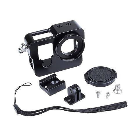 SHOOT Protección Multifuncional de Metal Aleación Aluminio Cámara la Caja para GoPro Hero 4 (Negro)