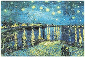 Jigsaw Puzzle for Adults Starry Night Over The Rhone River by Vincent Van Gogh 2000 Pieces Jigsaw Puzzles 27.56 x 39.37 Inches