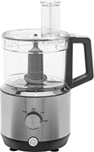 GE 12-cup accessories Food Processor, Stainless Steel