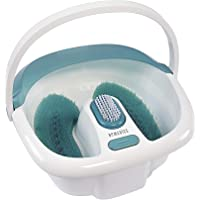 HoMedics Bubble Spa Elite Footbath, 2-in-1 removable pedicure center, Toe-touch control, Easy tote handle no-splash, FB…