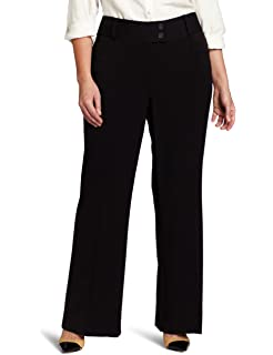 Chicwe Women s Plus Size Curvy Fit Boot Cut Pants - Casual and Work ... 78332b3df170