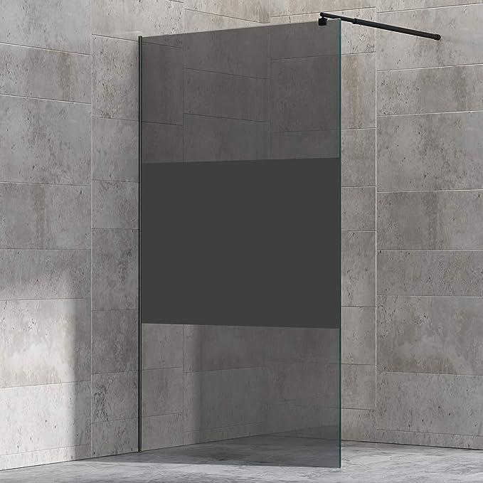Mampara de ducha Walk-In Nano 8 mm, cristal auténtico EX101, color ...