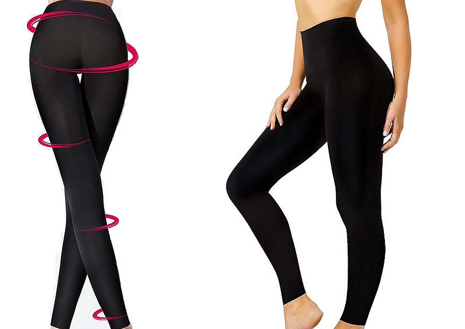 be585ef2dc0e4 Slimming Leggings Seamless Shapewear Women Ladies Tummy Legs Body Control  (Set of 1 Black S-3XL)  Amazon.co.uk  Clothing