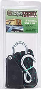 """Rope Ratchet 10030 1/2"""" Rope Pulley Rope Hanger, 8' Solid Braided Polypropylene Rope, Locking Pulley, 500 lbs Weight Capacity"""