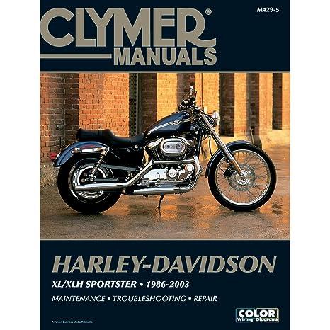 amazon com clymer harley davidson xl xlh sportster 1986 2003 rh amazon com Clymer Manuals XL75 Clymer Manuals Banshee