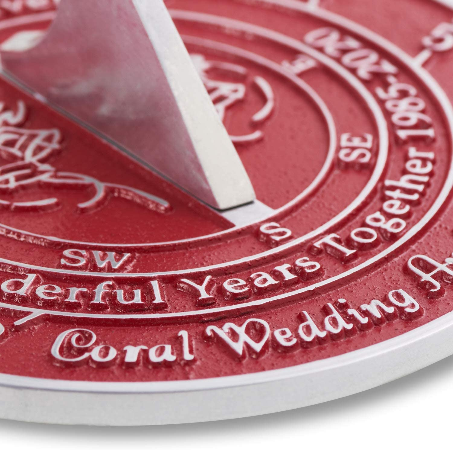 ANTIQUECOLLECTION 35th Coral 2020 Wedding Anniversary Sundial Gift