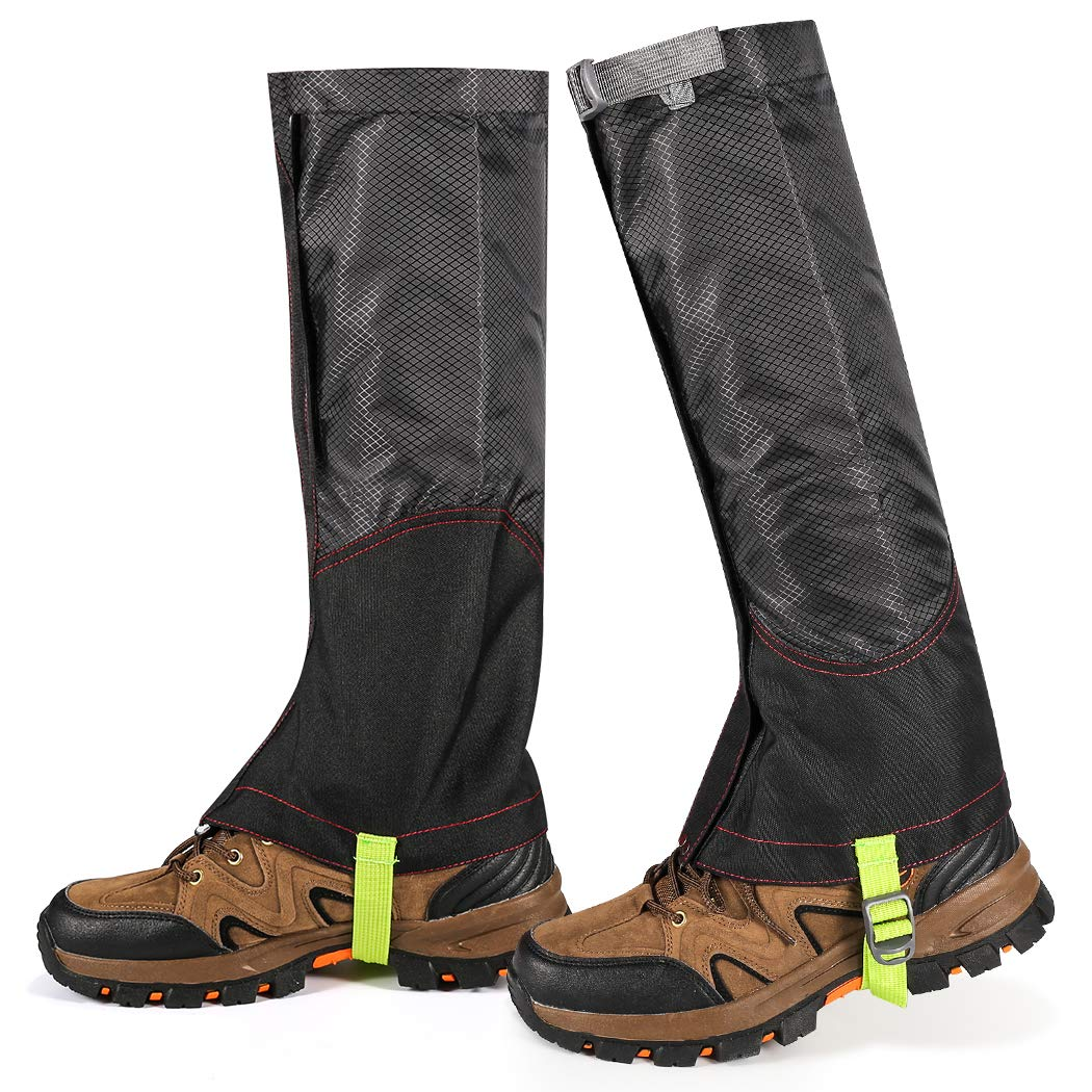 ZOTO Leg Gaiters, Snow Boot Gaiters Anti-Tear and Waterproof Gaiters for Hiking Walking Climbing Mountain