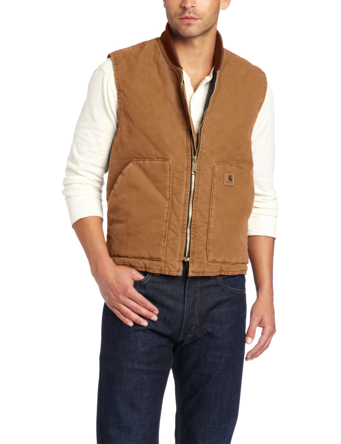 Carhartt Men's Sandstone Vest Arctic Quilt Lined, Brown,X-Large by Carhartt