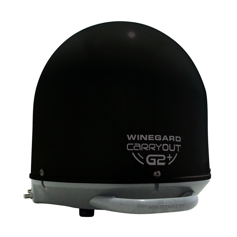 Winegard GM-6035 Carryout G2+ Automatic Portable Satellite TV Antenna with Power Inserter (RV Satellite for DIRECTV, DISH, BellTV) - Black