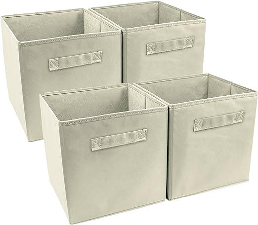 4pk Foldable Drawer Divider Storage  Flexible Containers Bins Organizer Basket