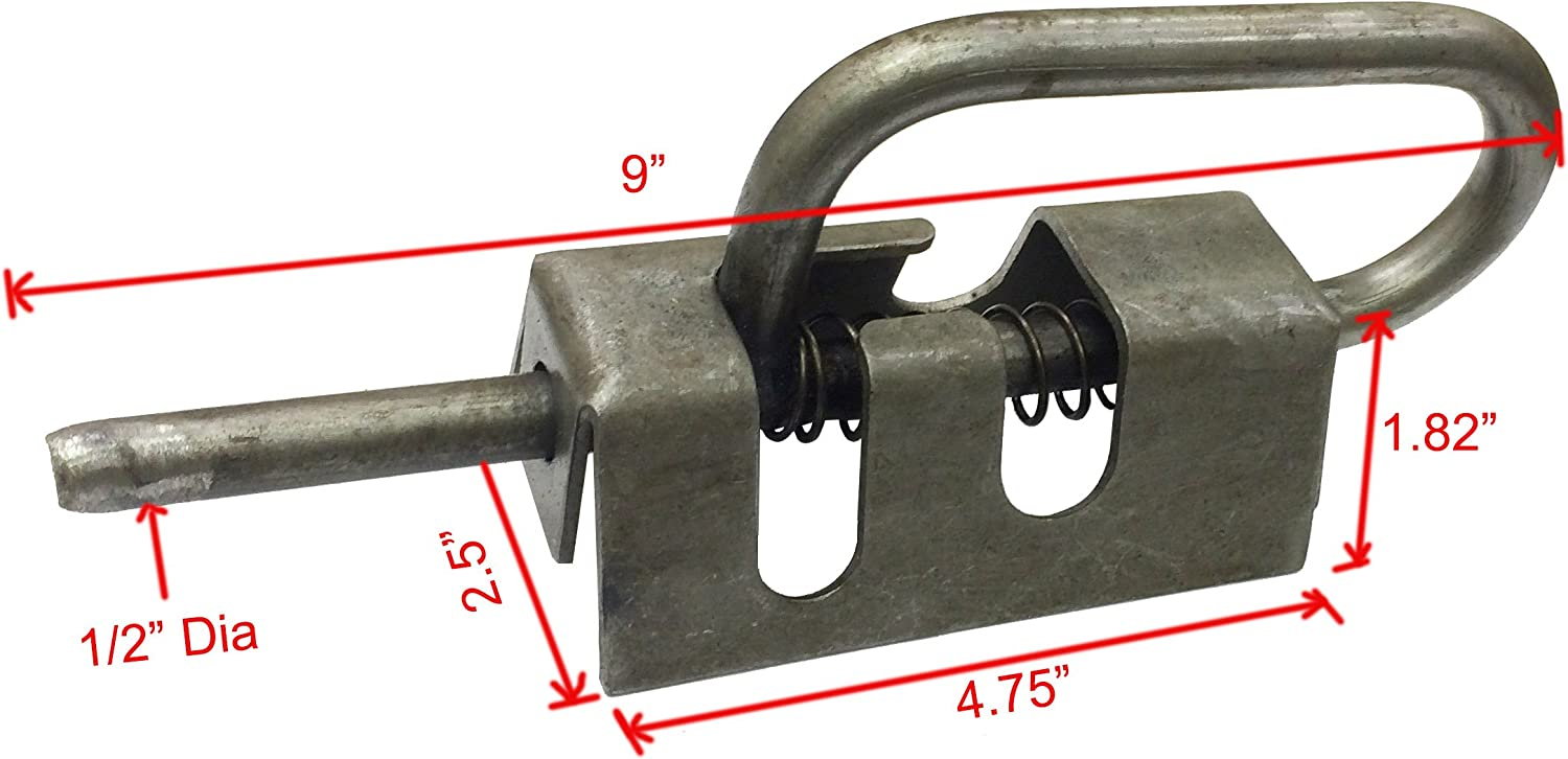 Trailer Float Railing Track Tail Gate Door Metal Spring Pin Latch Catch Bolt