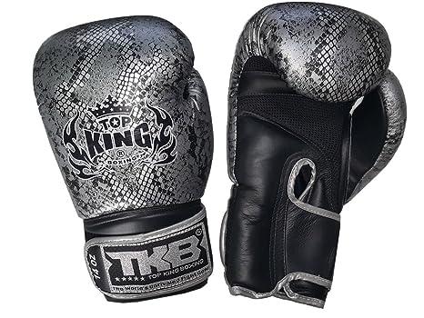 colore guantoni da boxe in pelle pitone top king nero