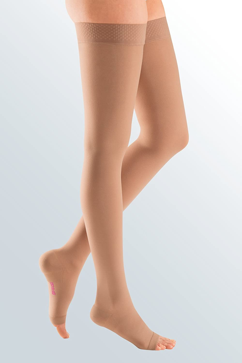 Medi Plus Thigh High 30-40mmHg With Silicone Beaded Band Open Toe, IV, BGE by Medi B003AKKMXW