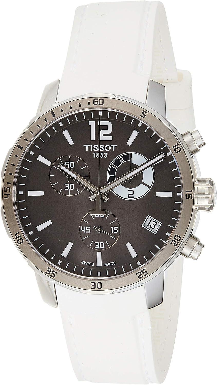 Tissot Men s T0954491706700 Quickster Analog Display Swiss Quartz White Watch