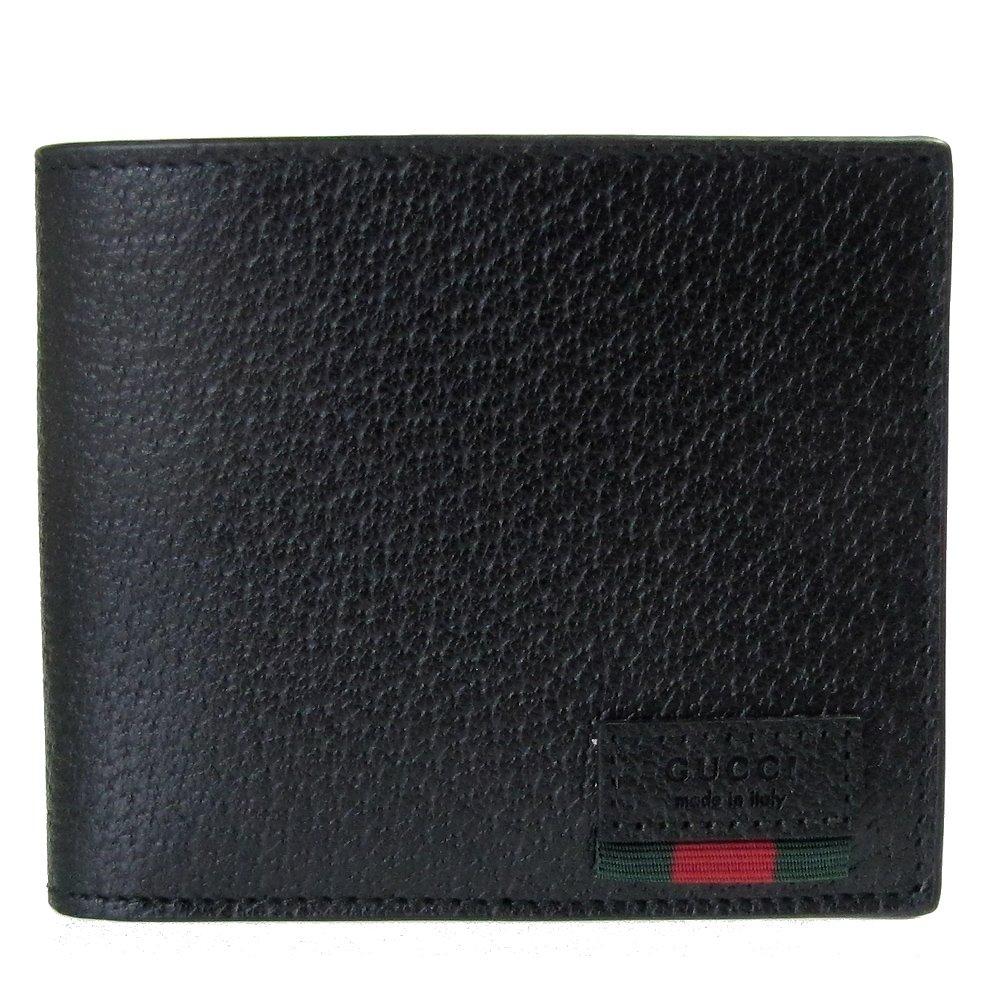 グッチ 二つ折り財布 メンズ 札入れ 小銭入れなし WEB カーフレザー ブラック 428749 DJ21T 1060 [並行輸入品] B078XB3RPL
