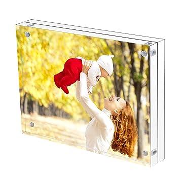 Amazon.com - Sooyee Acrylic Frame 8X10, Clear, Magnetic Photo ...